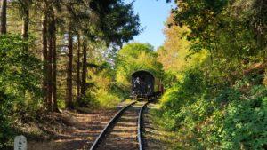 Impression einer Zugfahrt im Herbst 2019